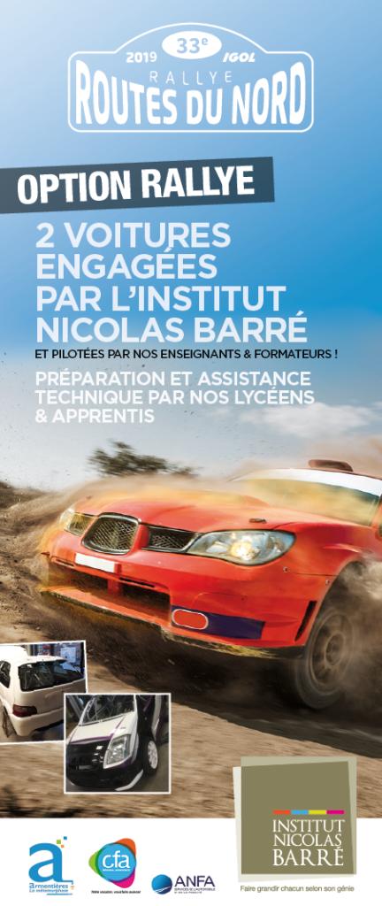 Rallye des routes du Nord Institut Nicolas Barré Armentières