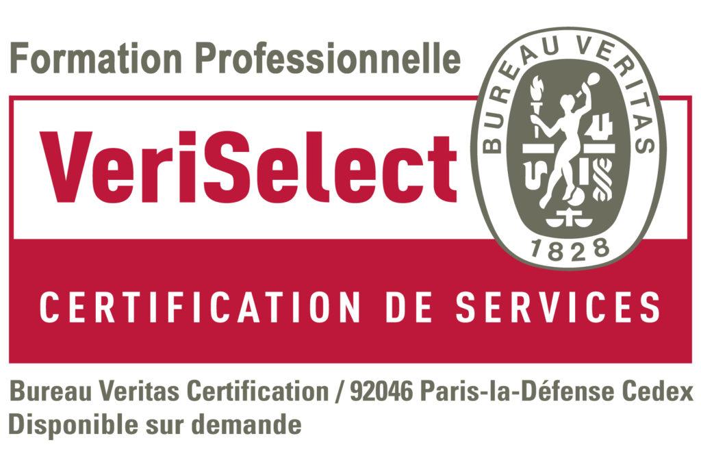 CertificationVeriSelect Eco Eff Service Pro Institut Nicolas Barré Armentières